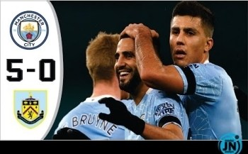 [Highlights] Man City vs Burnley 5−0 Goals & Highlights